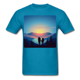 Backpackers at Sunset - Unisex - turquoise