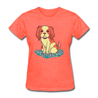 Happy Puppy - Women's - heather coral