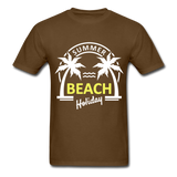 Summer Beach Holiday Design #3 - Men's Tee - brown