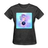 Pisces Lady on Blue - Women's - heather black