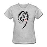 Lady With Red Lips - Women's - heather gray