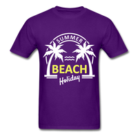 Summer Beach Holiday Design #3 - Men's Tee - purple