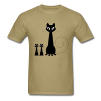 Black Cat Family - Men's - khaki