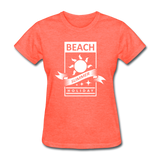 Beach Summer Holiday Design #2 - Women's Tee - heather coral