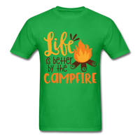 Life is Better Campfire - Men's - bright green