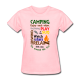 Camping Enjoy Each Other - Women's - pink