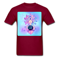 Leo Lady on Blue - Unisex - burgundy