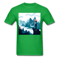 Lady in Pink Hiking - Unisex - bright green