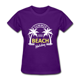 Summer Beach Holiday Design #3 Women's Tee - purple