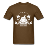 Summer Beach Holiday - Men's Tee - brown