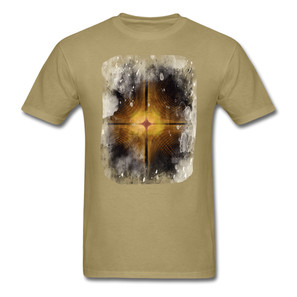 Brown and White Fractal - Unisex - khaki