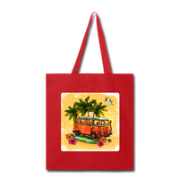 VW Bus Surfing - Tote - red