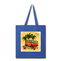 VW Bus Surfing - Tote - royal blue