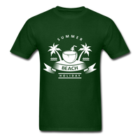 Summer Beach Holiday - Men's Tee - forest green