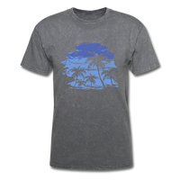 Palm Trees with Sky - Men's Tee - mineral charcoal gray