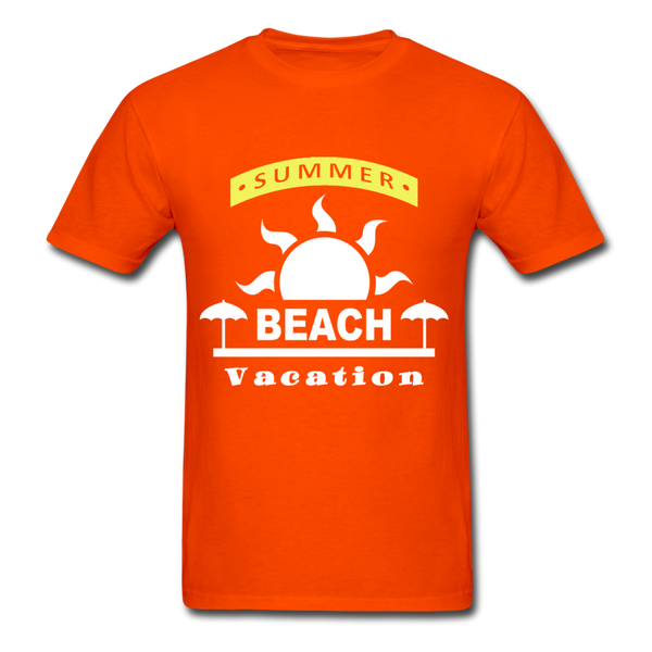 Summer Beach Vacation - Men's Tee - orange