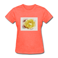 Yellow Rose Watercolor - Women's - heather coral