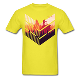 Geometric Hiking Pose - Men's - yellow