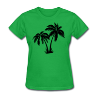 Palm Trees Silhouette - Women's Tee - bright green