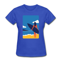 Lady with Surf Board - Women's - royal blue