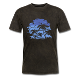 Palm Trees with Sky - Men's Tee - mineral black