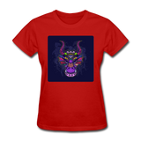Colorful Dragon Face 2 - Women's - red