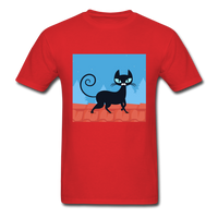 Black Cat on a Roof - Mens - red