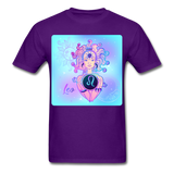 Leo Lady on Blue - Unisex - purple