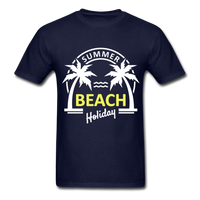 Summer Beach Holiday Design #3 - Men's Tee - navy