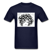 Woman with  Curly Hair - Men's - navy