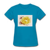 Yellow Rose Watercolor - Women's - turquoise