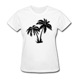 Palm Trees Silhouette - Women's Tee - white