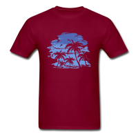 Palm Trees with Sky - Men's Tee - burgundy