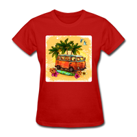 VW Bus Surfing - Women's - red