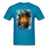 Brown and White Fractal - Unisex - turquoise