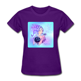 Capricorn Lady on Blue - Women's - purple