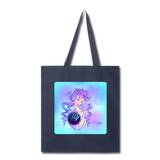 Virgo Lady on Blue - Tote - navy
