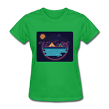 Camping on the Lake - Women's - bright green