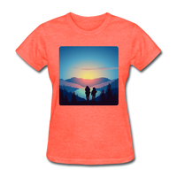 Backpackers at Sunset - Women's - heather coral