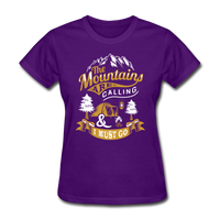 Mountains Calling Yellow - Women's - purple