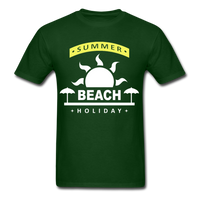 Summer Beach Holiday Design #4 - Men's Tee - forest green
