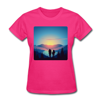 Backpackers at Sunset - Women's - fuchsia
