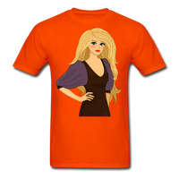 Blonde Lady in Lovely Dress - Men's - orange