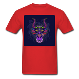 Colorful Dragon Face 2 - Unisex - red