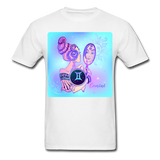 Gemini Lady on Blue - Unisex - white