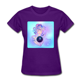 Pisces Lady on Blue - Women's - purple