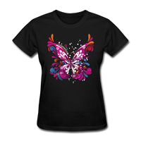 Abstract Pink Butterfly - Women's - black