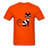 Black Cat Sitting - Men's - orange