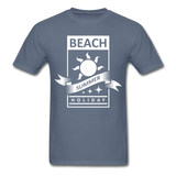 Beach Summer Holiday Design #2 - Men's Tee - denim