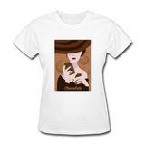 A Chocolate Eating Classy Lady - Women's - white